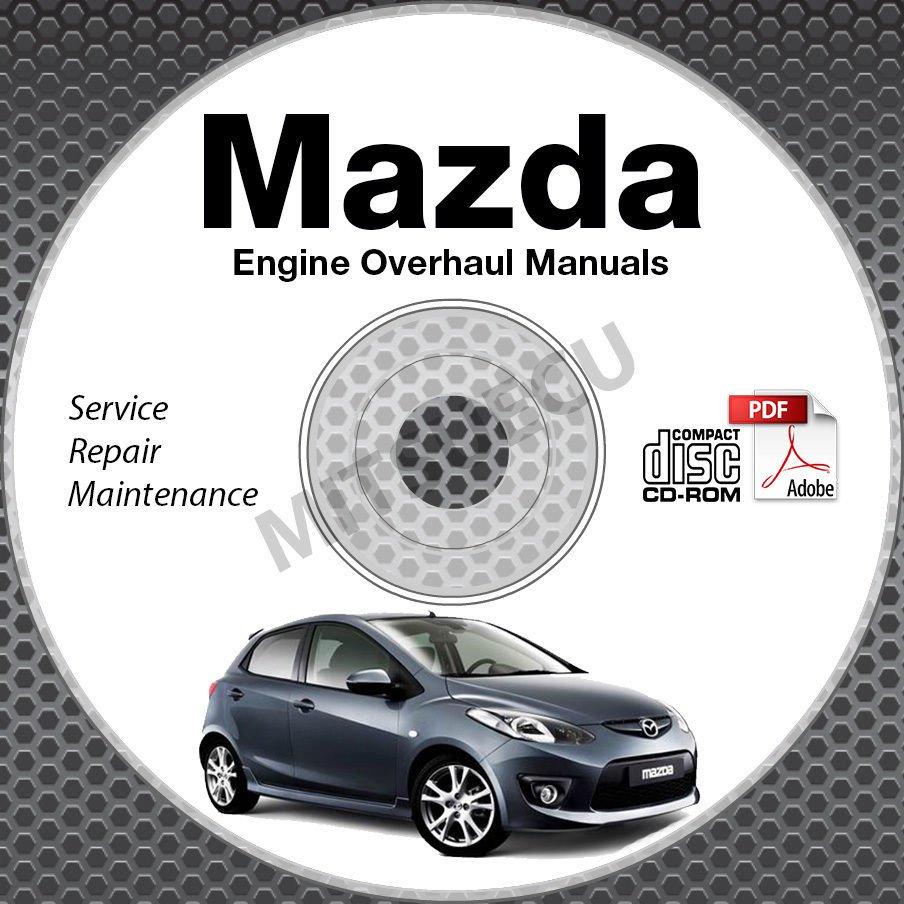Mazda ENGINE OVERHAUL Service Manuals CD-ROM workshop rebuild Skyactiv 2.0 2.5