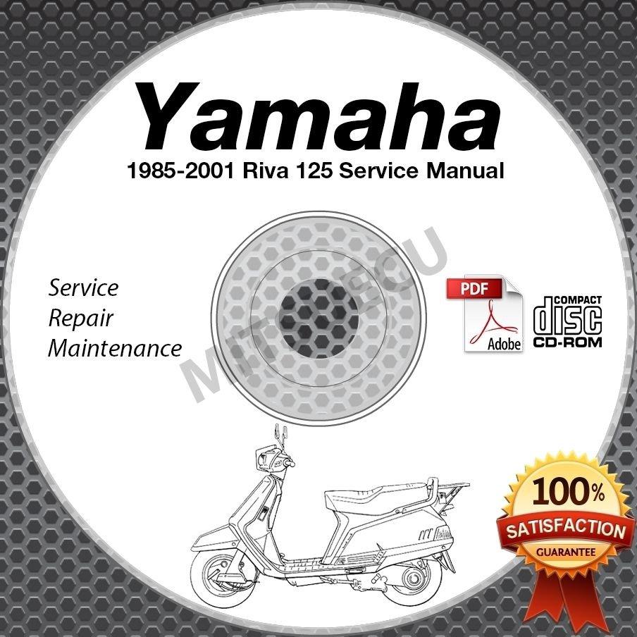 1985-2001 Yamaha RIVA 125 Scooter Service Manual CD ROM repair shop 86 87 88 89