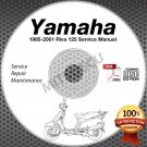 1985-2001 Yamaha RIVA 125 Scooter Service Manual CD ROM repair shop 86 87 88 89
