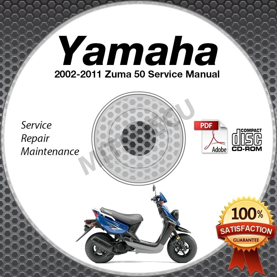 2002-2011 Yamaha ZUMA 50 Scooter Service Manual CD ROM repair shop 03 04 05 06