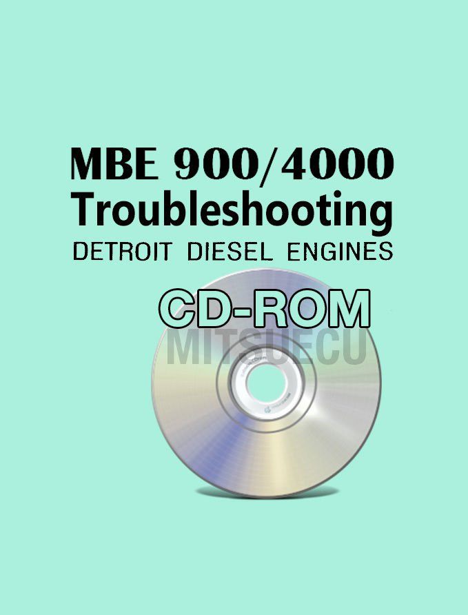 Detroit Diesel MBE 900/4000 Troubleshooting Guide CD (6SE422) repair diagnostics
