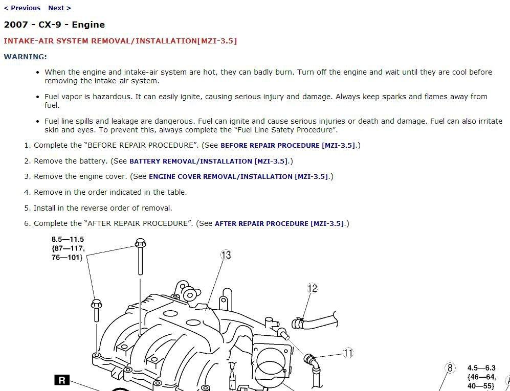 2007 Mazda CX-9 Service Manual CD ROM workshop repair 3.5L MZR V6 CX9