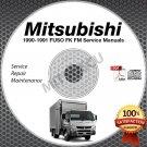 1990-1991 Mitsubishi FUSO FK FM Service Manual CD ROM repair shop 6D14 6D16