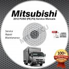 2012 Mitsubishi FUSO FE FG Service Manual CD ROM repair shop 4P10-T5