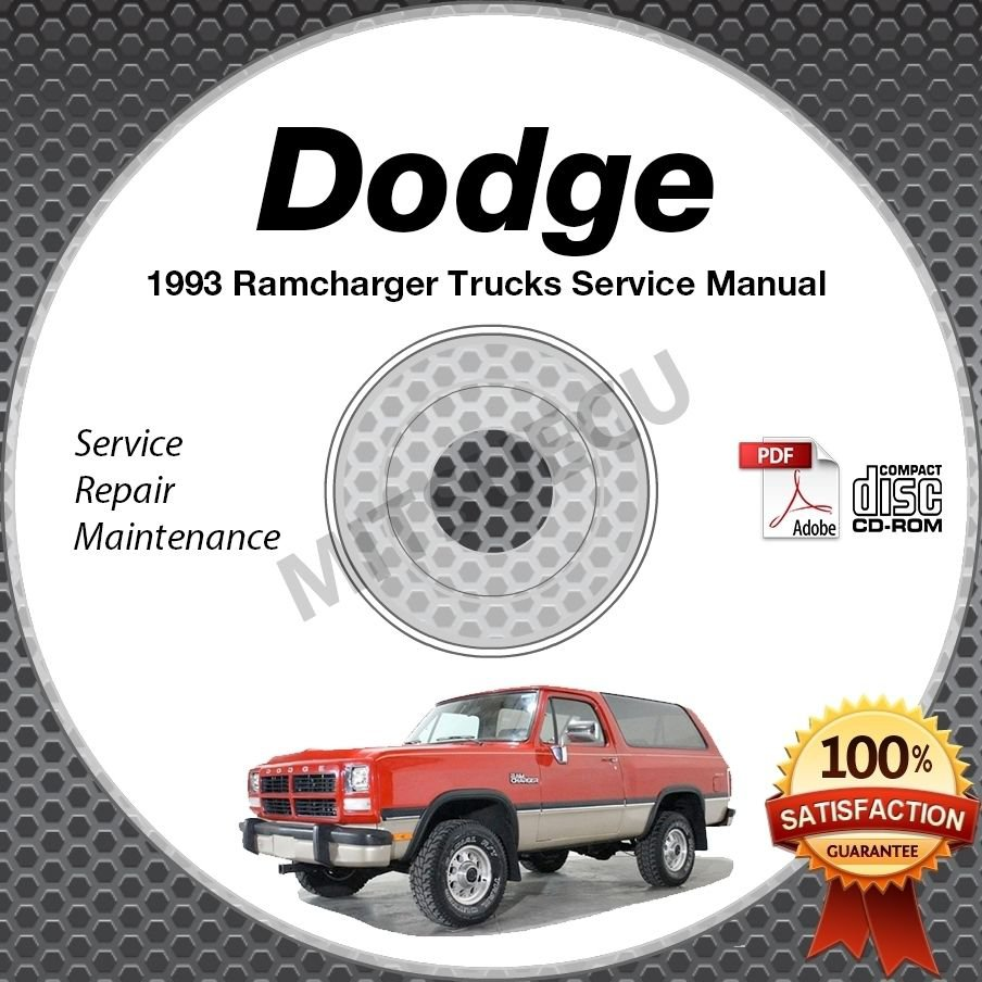 1993 Dodge RAMCHARGER 3.9L 5.2L 5.9L + Diesel Truck Service Manual CD shop