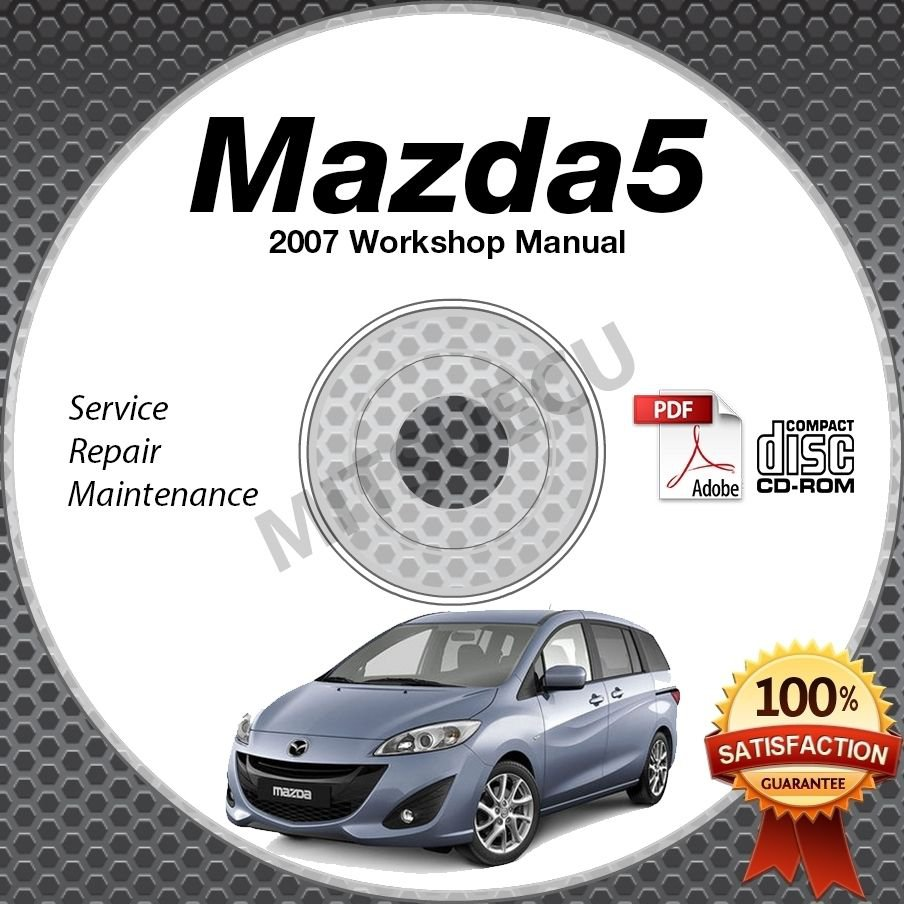 2007 Mazda5 Service Manual CD ROM workshop repair 2.3L Mazda 5 *NEW*