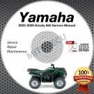 2002-2008 Yamaha GRIZZLY 660 YFM660 Service Manual CD ROM repair shop 03 04 05