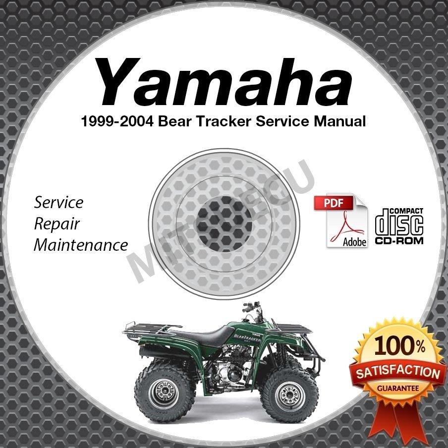 1999-2004 Yamaha BEAR TRACKER YFM250X Service Manual CD ROM repair shop 00 01 02