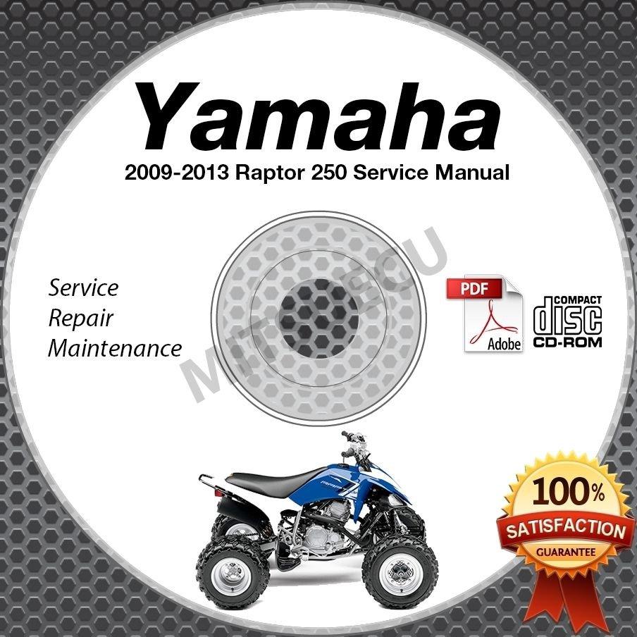 2009-2013 Yamaha RAPTOR 250 YFM25 Service Manual CD ROM repair shop 2010 2011 12