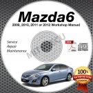 2009-2012 Mazda6 Service Repair Shop Manual CD-ROM workshop 2010 2011