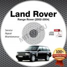2002-2004 Land Rover RANGE ROVER Service Repair Manual CD ROM 2003 shop