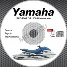 1997-2002 Yamaha WAVERUNNER GP1200 GP1200R Service Manual CD ROM repair shop