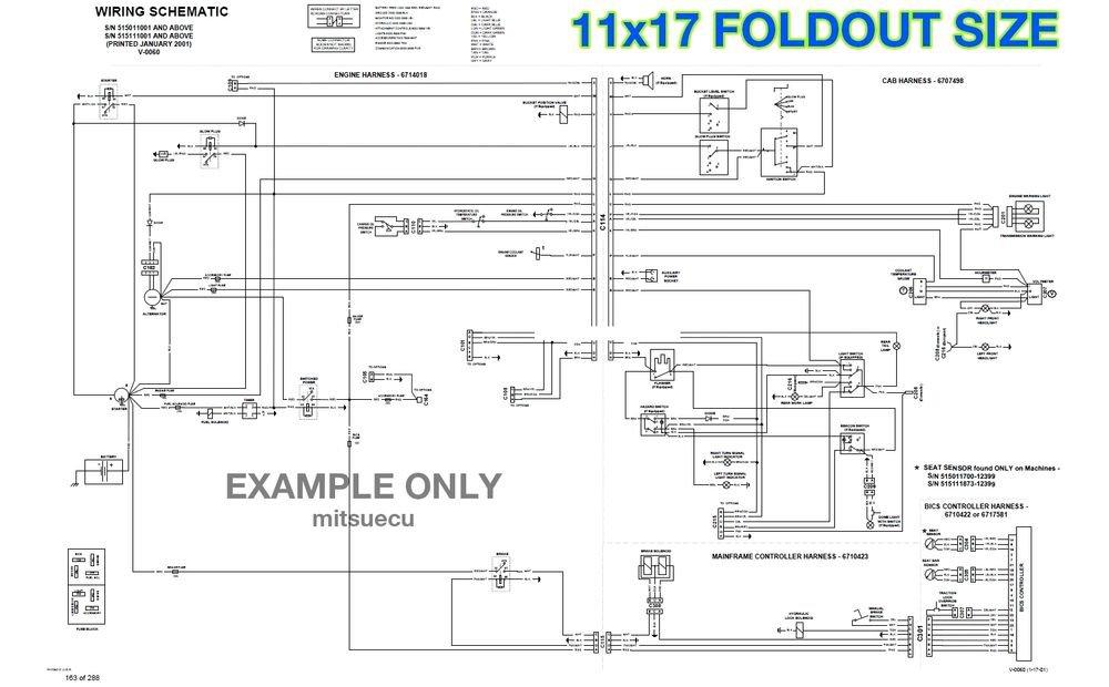 Bobcat 463 Loader Hydraulic & Electrical Schematics 11x17 FOLDOUTS [538/539 SN]