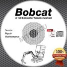 Bobcat X 100 Excavator Service Manual CD ROM (All Serial Numbers) repair shop