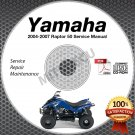 2004 2005 2006 2007 Yamaha RAPTOR 50 YFM50 Service Manual CD ROM repair shop