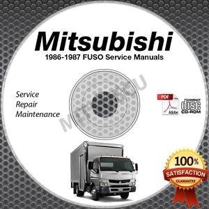 1986-1987 Mitsubishi FUSO FK FM Service Manual CD ROM repair shop 6D14 6D14T