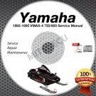 1992-1995 Yamaha VMAX-4 750/800 Snowmobile Service Manual CD ROM repair shop 93