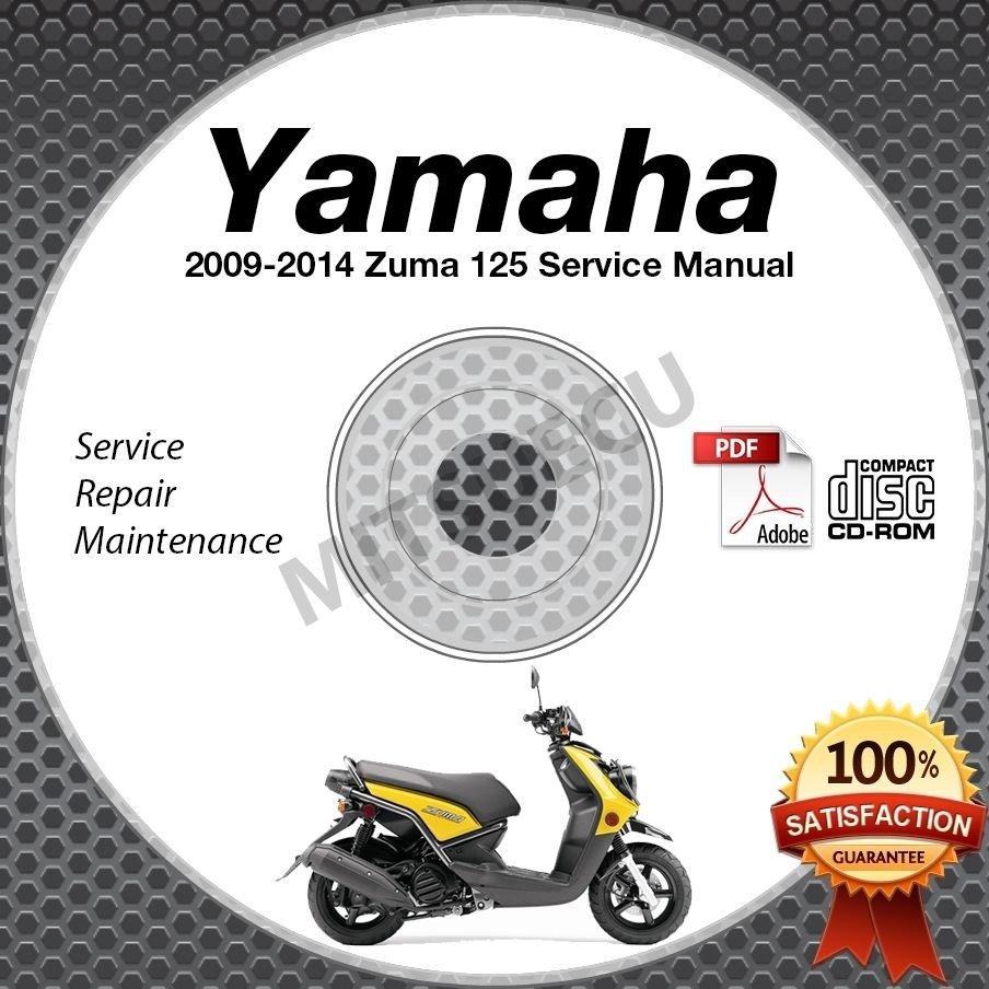2009-2014 Yamaha ZUMA 125 Scooter Service Manual CD ROM repair shop 10 11 12 13