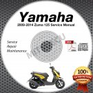 2009-2014 Yamaha ZUMA 125 Scooter Service Manual CD ROM repair shop 10 11 12 13