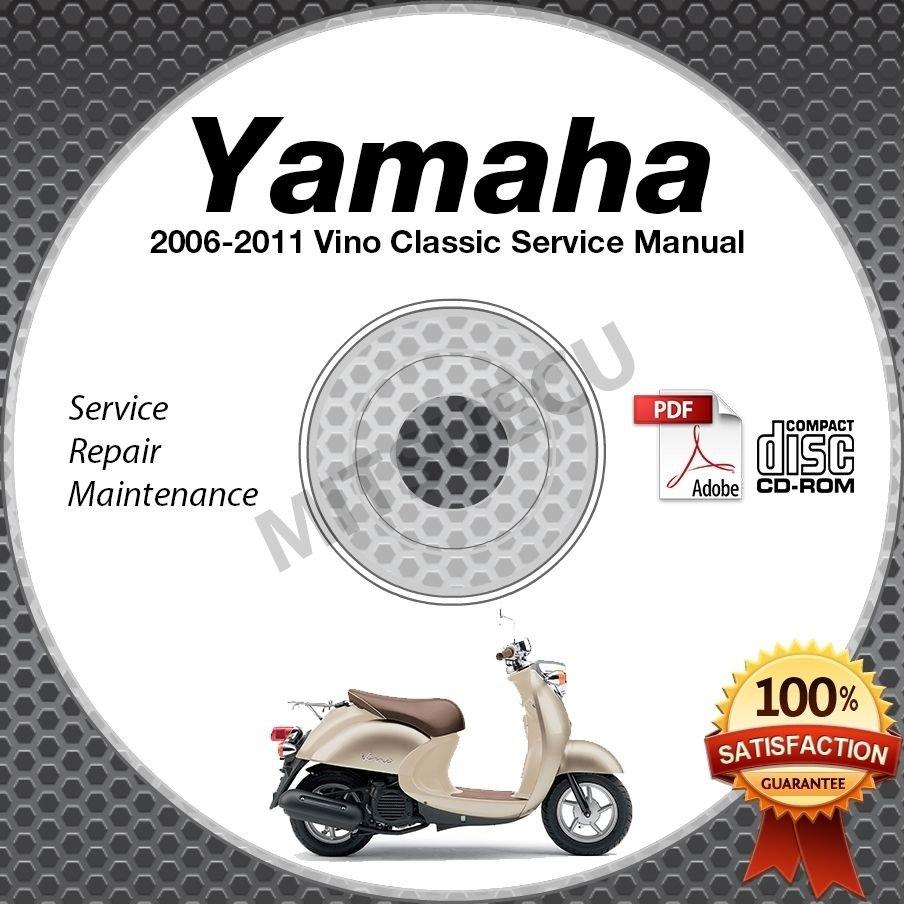 2006 2011 yamaha vino classic scooter xc50 service manual for Yamaha vino 2006