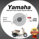 2006-2011 Yamaha VINO CLASSIC Scooter XC50 Service Manual CD ROM repair shop