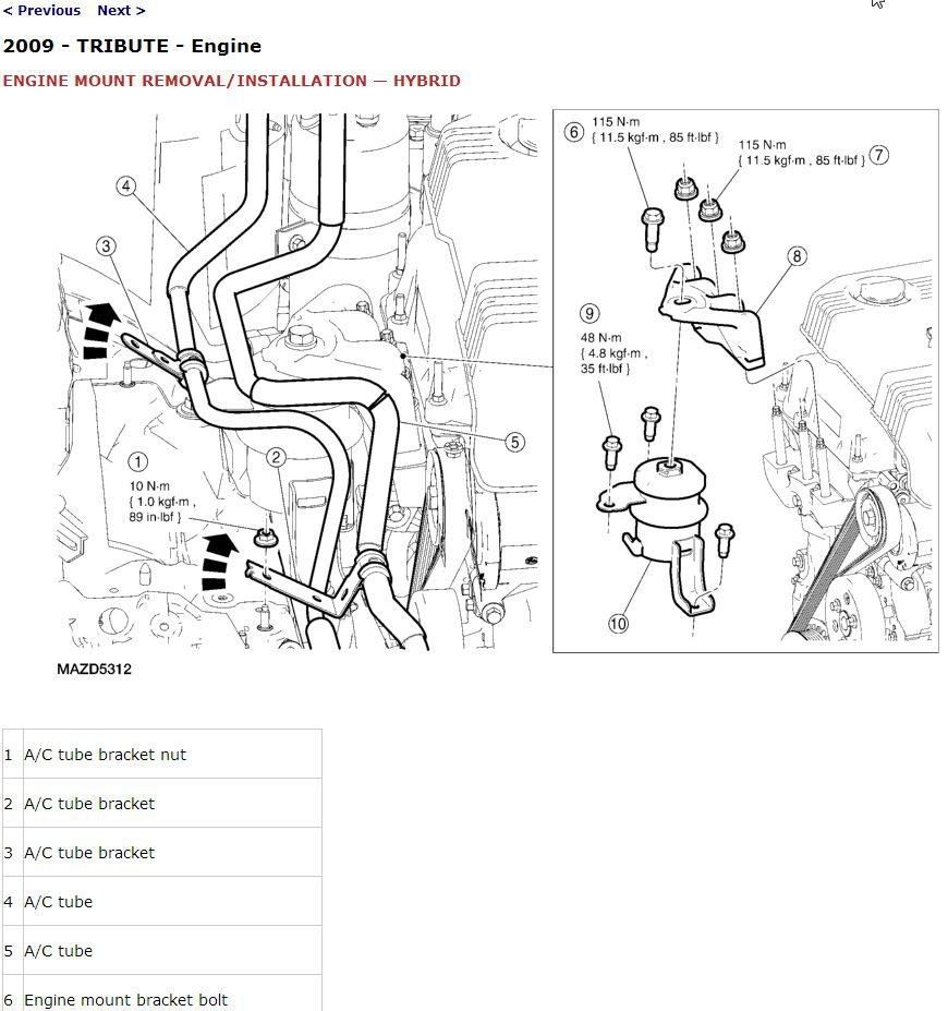 2009 Mazda Tribute Service Manual CD ROM workshop repair 2.5L 3.0L Hybrid