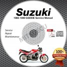 1989-1999 Suzuki GS500E Service Manual CD ROM Repair Shop 1995 1996 1997 1998
