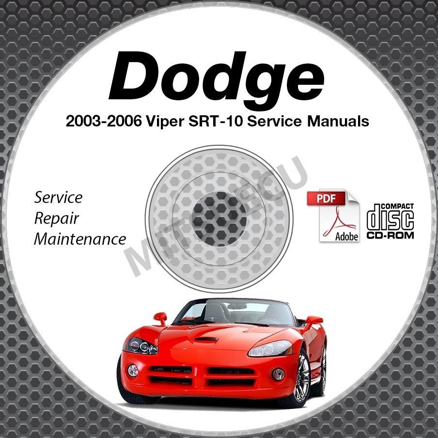 2003-2006 VIPER 8.3L V10 Service Manual CD + Body+ Powertrain Repair Shop