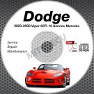 2003-2006 VIPER 8.3L V10 Service Manual CD + Body+ Powertrain Repair Shop