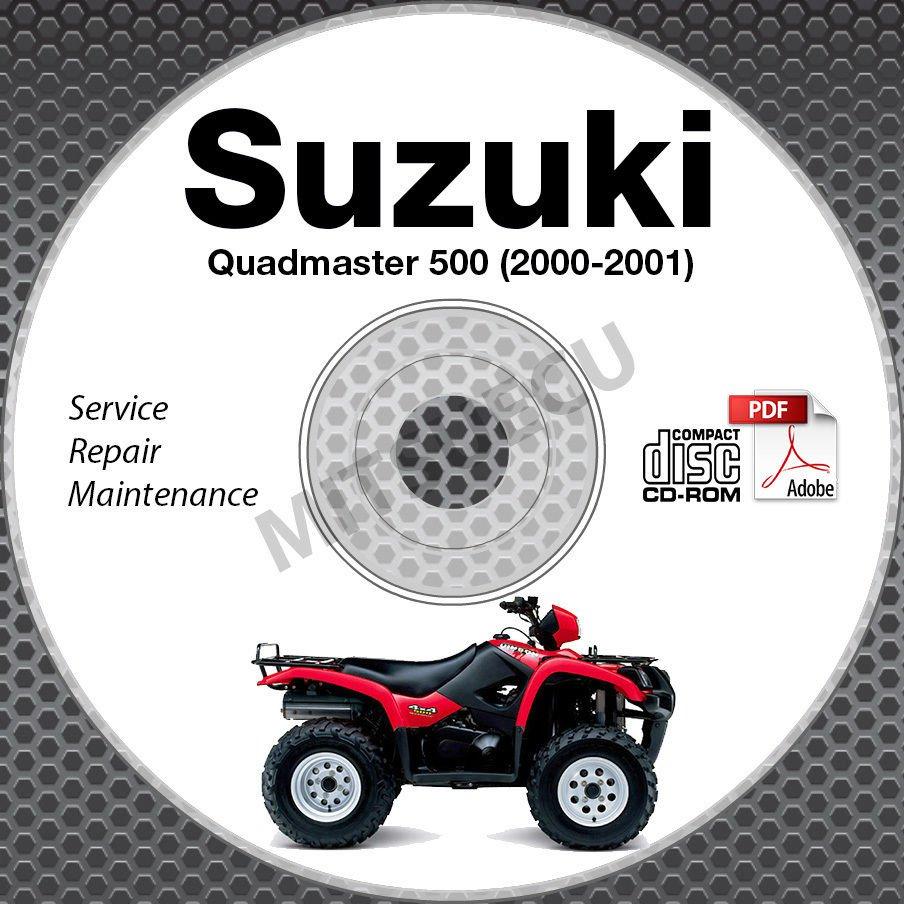 2000-2001 Suzuki LT-A500F Quadmaster 500 Service Manual CD ROM repair shop