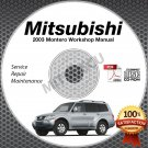 2003 Mitsubishi Montero 3.8L Service Manual CD ROM repair workshop