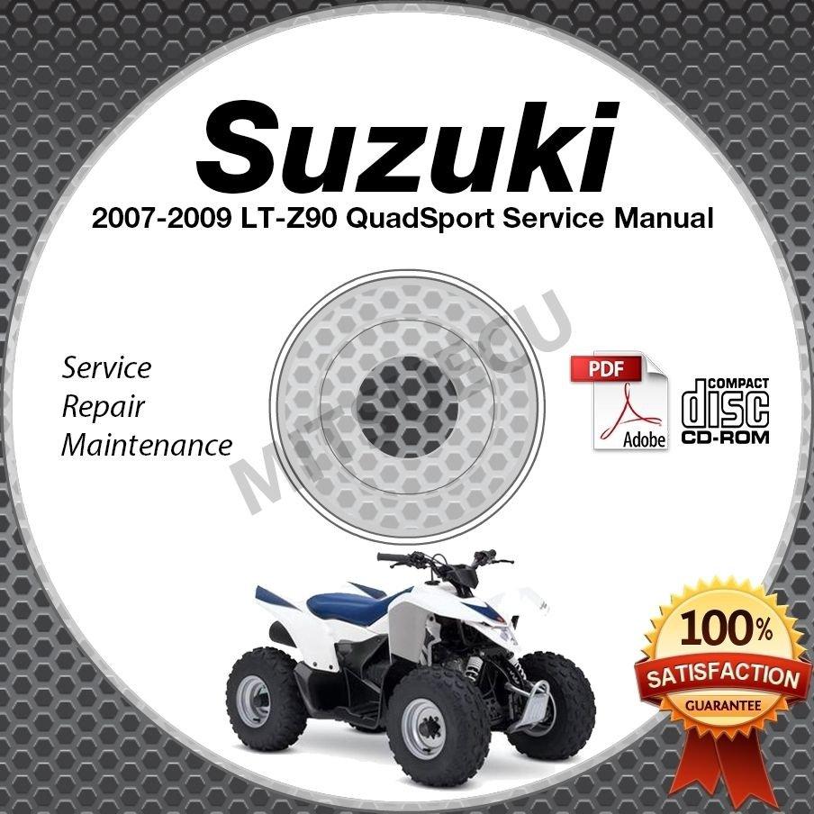 2007-2009 Suzuki LT-Z90 QuadSport Service Manual CD shop repair LTZ90 2008