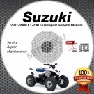2007-2009 Suzuki LT-Z90 QuadSport Service Manual CD shop repair LTZ90 2008