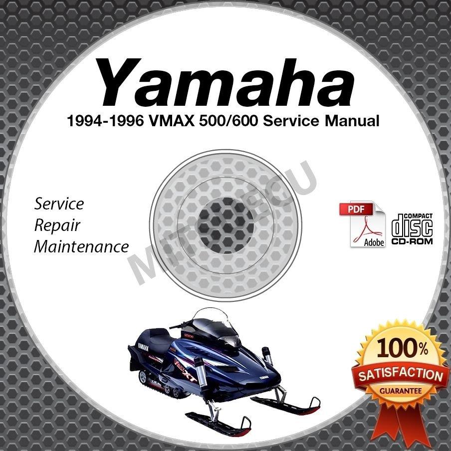 1994 1995 1996 Yamaha VMAX 500/600 Snowmobile Service Manual CD ROM repair shop