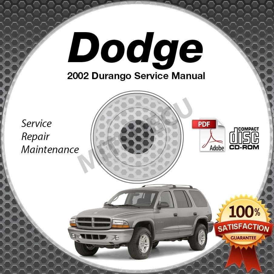 2002 Dodge DURANGO (Sport SLT R/T) 4.2L, 5.9L Service Manual CD shop repair