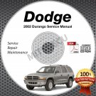 2002 Dodge DURANGO (Sport SLT R/T) 4.2L, 5.9L Service Manual CD shop repair