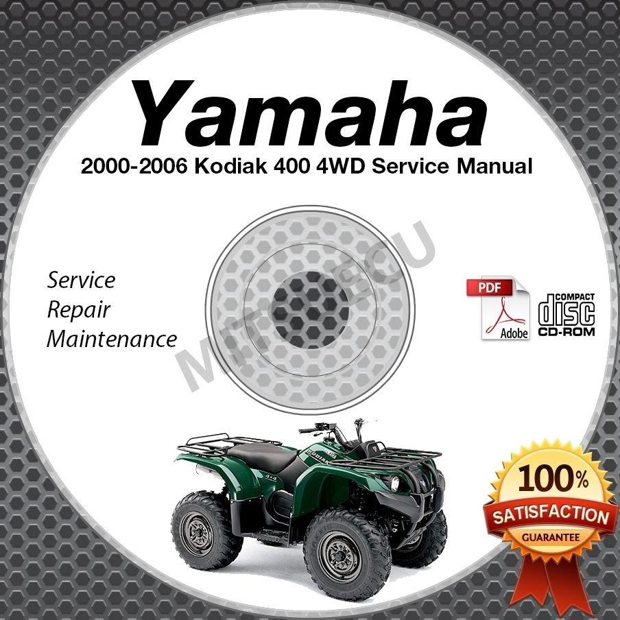 2000-2006 Yamaha KODIAK 400 4WD ATV Service Manual CD repair shop YFM400 Hi Res