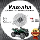2000-2006 Yamaha KODIAK 400 4WD ATV Service Manual CD repair shop YFM400 Hi Res