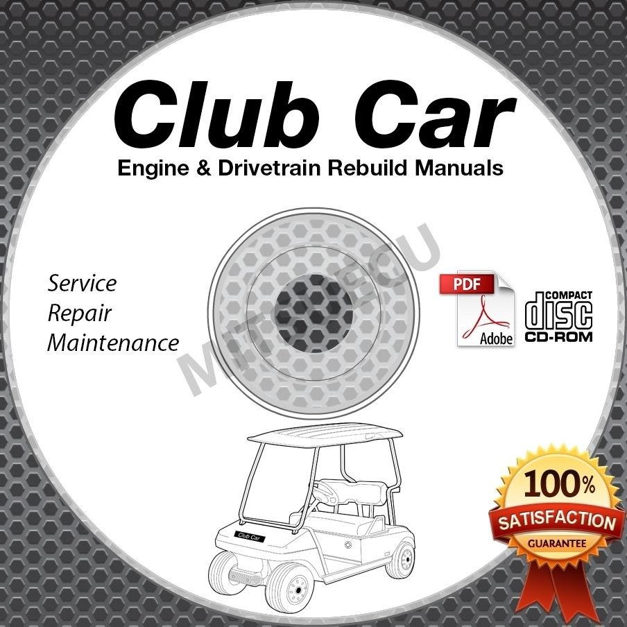 Club Car Engine & Drivetrain Rebuild Repair Manual CD ROM (Gas/Diesel Models)