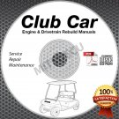 Club Car Engine & Drivetrain Rebuild Repair Manual CD ROM (Gas/Diesel Models)