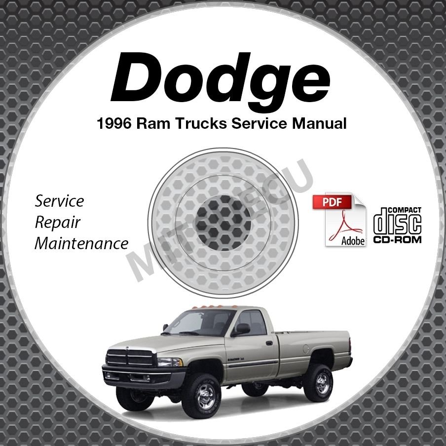 1996 Dodge Ram 1500 2500 3500 Truck Gas + Diesel Service Manual CD shop repair