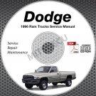 1996 Dodge Ram 1500 2500 3500 Truck Gas + Diesel Service Manual CD shop repair