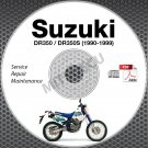 1990-1999 Suzuki DR350 DR350S Service Manual CD ROM 98 87 86 95 94 93 92 repair