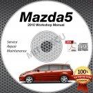 2010 Mazda5 Service Manual CD ROM workshop repair 2.3L Mazda 5 *NEW*