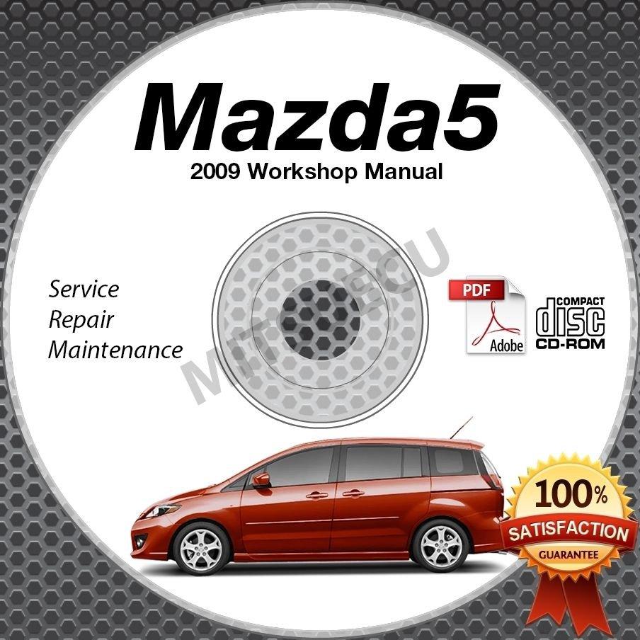 2009 Mazda5 Service Manual CD ROM workshop repair 2.3L Mazda 5 *NEW*