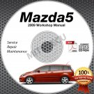 2009 Mazda5 Service Manual CD ROM workshop repair 2.3L Mazda 5 *NEW*