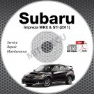 2011 SUBARU IMPREZA WRX & STi Service Manual CD 4-door, 5-door repair workshop