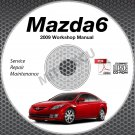 2009 Mazda6 Service Manual CD ROM workshop repair MZR 2.5L 3.7L NEW!