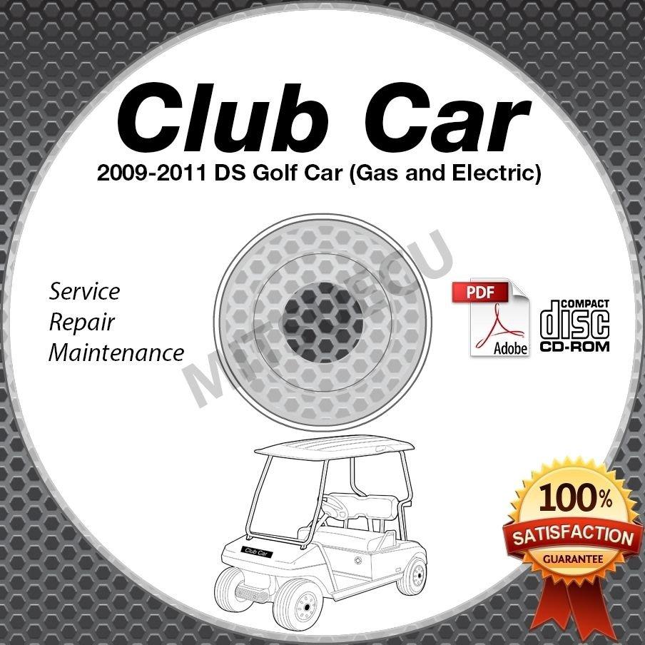 2009-2011 Club Car DS Golf Car (Gas+Elec) Service Manual CD ROM repair shop cart