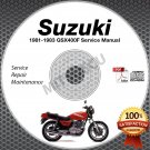 1981 1982 1983 Suzuki GSX400F Katana Service Manual CD ROM Repair Shop